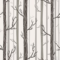 Cartoon Forest Trees Branches Wallpaper Reusable Removable Accent Wall Cool Room Interior Art (wal008)
