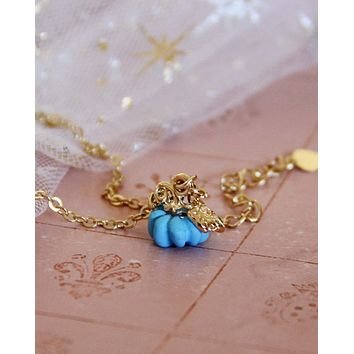 Cinderella Necklace in Blue