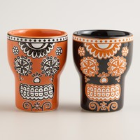 Dia de los Muertos Shot Glasses, Set of 4