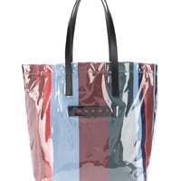 PVC Striped Tote Bag by Marni