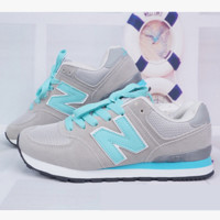 New balance abric is breathable n leisure sports Couples forrest gump running Grey