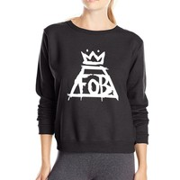 for fans Rock Band Fall Out Boy FOB women sweatshirt 2017 spring fashion fleece high quality brand slim fit tracksuit for lady
