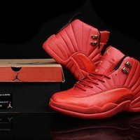 PEAP Jacklish 2016 New Air Jordans 12 Custom All Red And Gold For Sale Online
