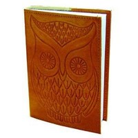 """Owl - Leather Writing Journal - Blank - Hand Embossed 4"""" x 5.75"""""""