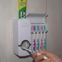 Automatic Toothpaste Dispenser Indoor Home Family Toothbrush Holder Bathroom Household Sets