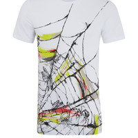 McQ Alexander McQueen White Toxic Spider Print T-Shirt | Men's Tops by McQ Alexander McQueen | Liberty.co.uk