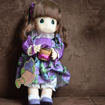 Violet Precious Moments Doll --Garden of Friends --February Doll --12 Inch Doll -- 1st Edition Doll 1994