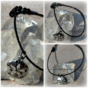 Black Sand Dollar Anklet, Beach Jewelry, Anklet Jewelry, Direct Checkout