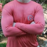 FieldTec Pocket Tee - Long Sleeve in Coral Red by Southern Marsh