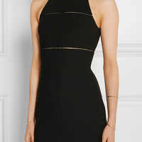 Elizabeth and James - Prentice pointelle-trimmed stretch-ponte mini dress