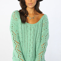 The Fluff Sweater in Mint