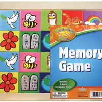 """""""wonderfully made"""" educational wooden memory match Case of 12"""