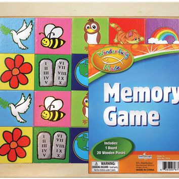"""wonderfully made"" educational wooden memory match Case of 12"