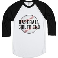 Baseball girlfiend-Unisex White/Black T-Shirt