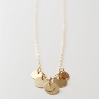 bellissima gold coin necklace