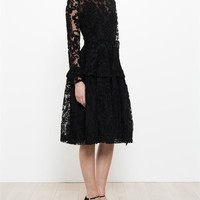 SIMONE ROCHA   Flocked Brocade Dress   brownsfashion.com   The Finest Edit of Luxury Fashion   Clothes, Shoes, Bags and Accessories for Men & Women