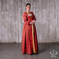 Italian Renaissance dress XV century -  Medieval Dress - Renaissance Dress - Medieval Gown - Costume - Renaissance Clothing- Larp SCA dress