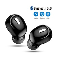 Mini In-Ear 5.0 Bluetooth Earphone HiFi Wireless Headset With Mic Sports Earbuds Handsfree Stereo Sound Earphones for all phones