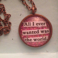 "Marina and the Diamonds Primadonna Girl ""All I Ever Wanted was the World"" Necklace"