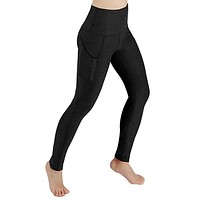 Women Solid Workout Out Pocket Leggings