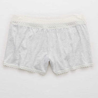 Aerie Softest Sleep® Trimmed Boxer, Light Heather