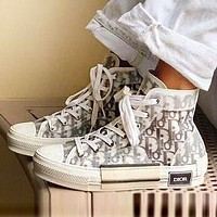 DIOR Hot Sale Women's Personalized High Top Sneakers Shoes