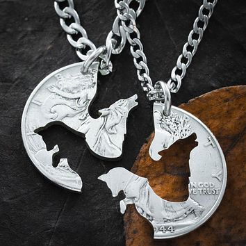 Wolf and Fox Best Friends Jewelry, by Namecoins
