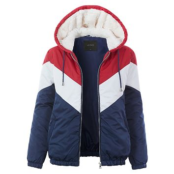 Color Block Puffer Jacket (CLEARANCE)