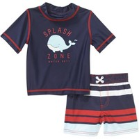 Child of Mine by Carter's Baby Boy 2 Piece Rash Guard Swim Set, Online Exclusive - Walmart.com
