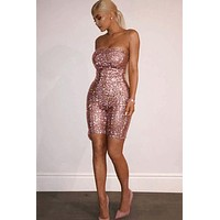 Kylie Love Glitter Playsuit (Ready To Ship)