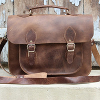 Leather messenger bag  /xmas gift