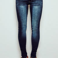 VIENNA HIGH RISE MEDIUM FADED WASH SKINNY JEAN - STYLE STEALS