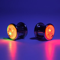 "LED Light up Ear Gauge Plug (Size: 8mm - 5/16"" - 0g)"
