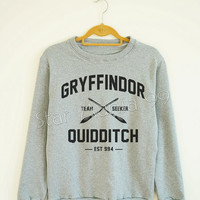 Gryffindor Quidditch Shirt Gryffindor Shirt Harry Potter Shirt Sweater Sweatshirt Jumpers Tee Long Sleeve Women Shirt Unisex Shirt SizeS,M,L