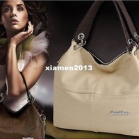 CREYON Handbags:  Polo Style - Famous Fashion Designers Genuine Cowhide Leather Handbag
