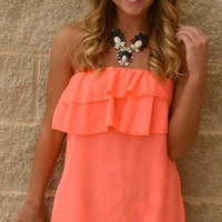 Coral Me Happy Neon Top · Haute Pink