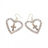『HoneyBijou』Heart cross pierced /earrings