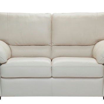 Trento Leather Loveseat by Natuzzi Editions