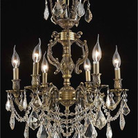 Rowland - Hanging Fixture (6 Light Traditional Hanging Crystal Chandelier) - 8081D20