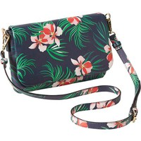 Old Navy Womens Floral Crossbody Bags Size One Size - Tropical blue