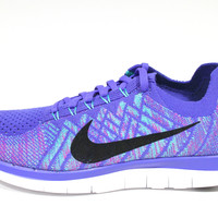 Nike Women's Free 4.0 Flyknit Purple/Black Running Shoes 717076 501