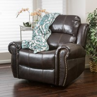 Christopher Knight Home Charlie PU Leather Glider Recliner Club Chair   Overstock.com Shopping - The Best Deals on Recliners