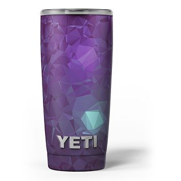 Purple Geometric V11 - Skin Decal Vinyl Wrap Kit compatible with the Yeti Rambler Cooler Tumbler Cups