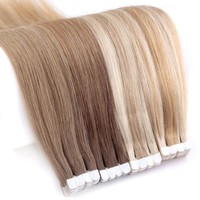 """Ombre Brazilian Straight Skin Weft Human Hair Tape In Extensions 16"""", 20"""""""