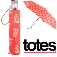 Totes Signature Super Dome Auto Open/Close Umbrella in Pineapple Print