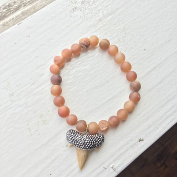 Bling Shark-Tooth Bracelet