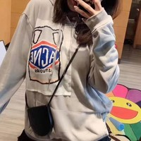 """Acne Studios"" Casual Fashion Letter Bear Pattern Embroidery Long Sleeve Hooded Sweater Women Hoodie Tops"