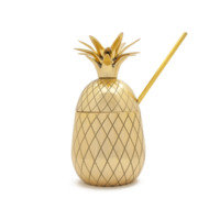 BRASS PINEAPPLE COCKTAIL PINT TUMBLER