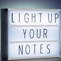 Personal Message LED Light Box
