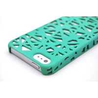 Wydan Teal Birds Nest Woven Designed Ultra Thin Hard Case for iPhone 5 5G Cover